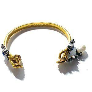 Alexander McQueen Auth. Gold Skull Hand Baroque Sk